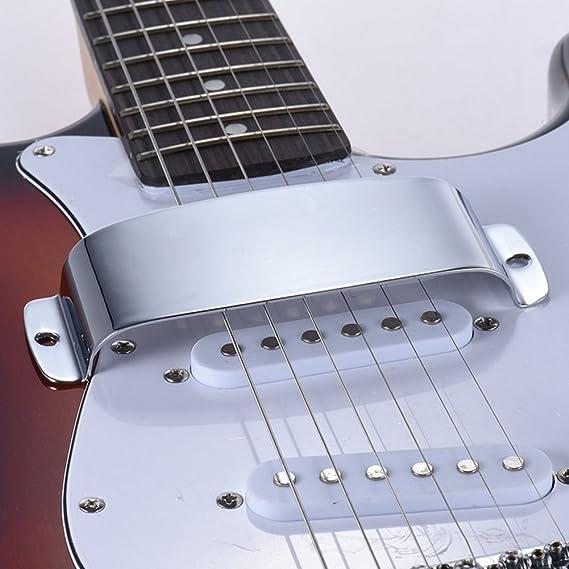 lyws pastilla de aleaci/ón de zinc y placa de puente Cover Set para PB guitarra bajo el/éctrico color negro