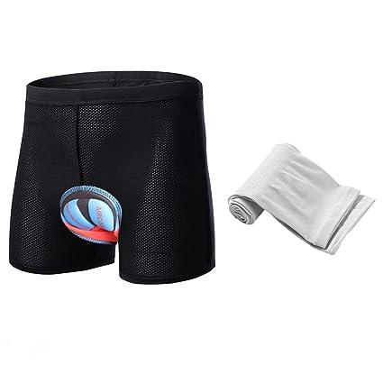 Ropa interior de ciclismo, ANGTUO acolchado unisex 3D Silica Gel Bike Underwear Cojín antichoque calzoncillos