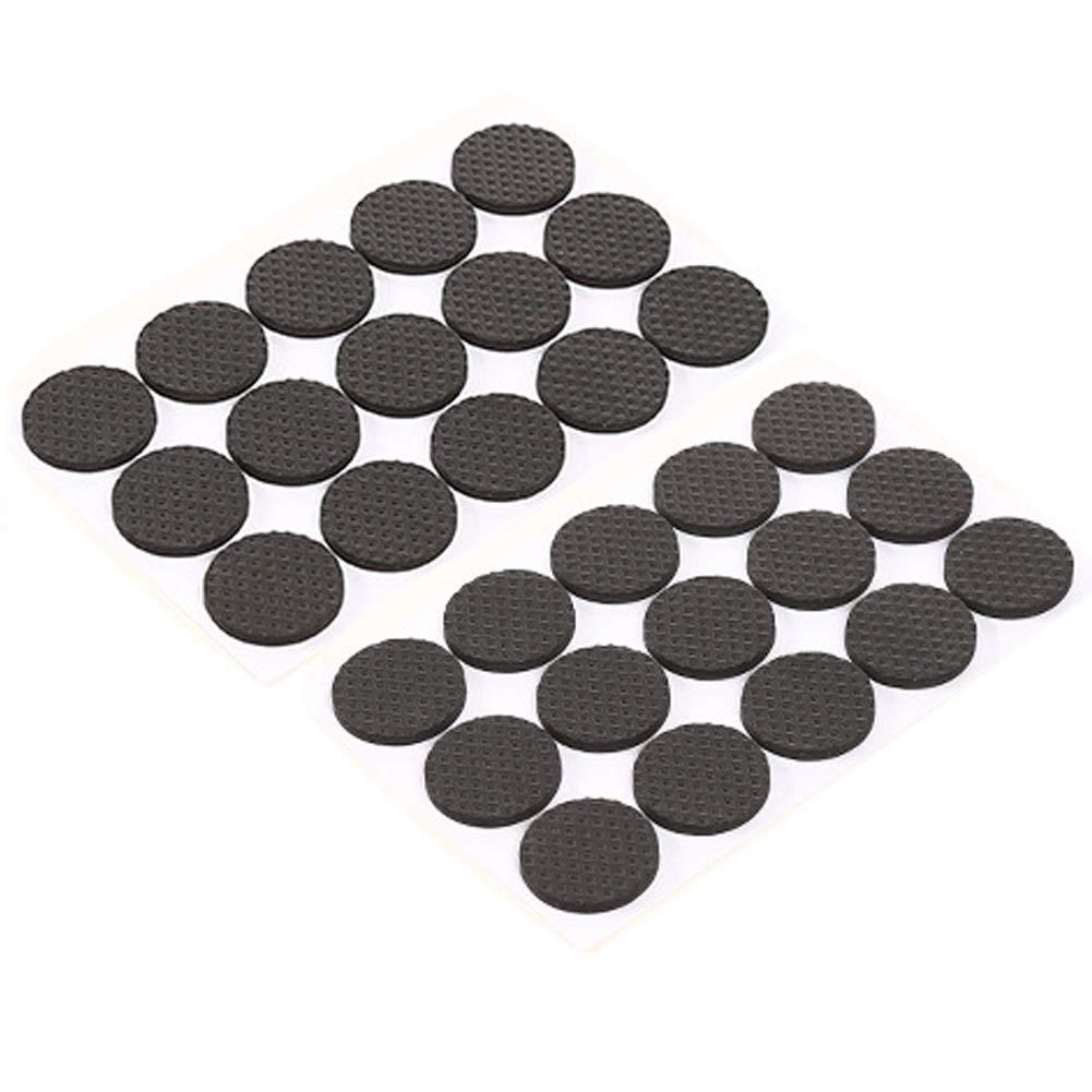 KINJOHI Multifunction Black Self Adhesive Furniture Leg Table Chair Sofa Feet Floor Non-Slip Mat Sticky Pad Rubber Floor