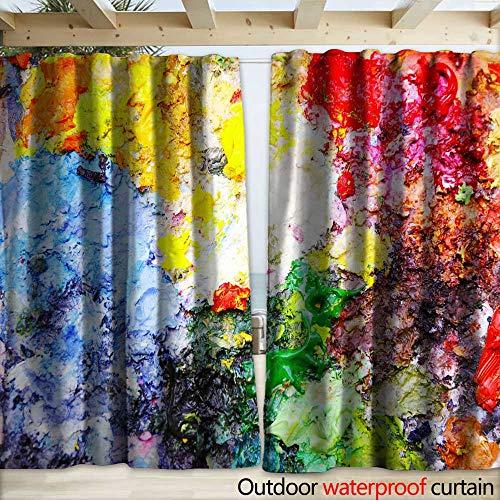warmfamily Drape for Pergola Curtain Oil Painting Artist Palette Drapery W108 x L108 (Magnet Artists Palette)
