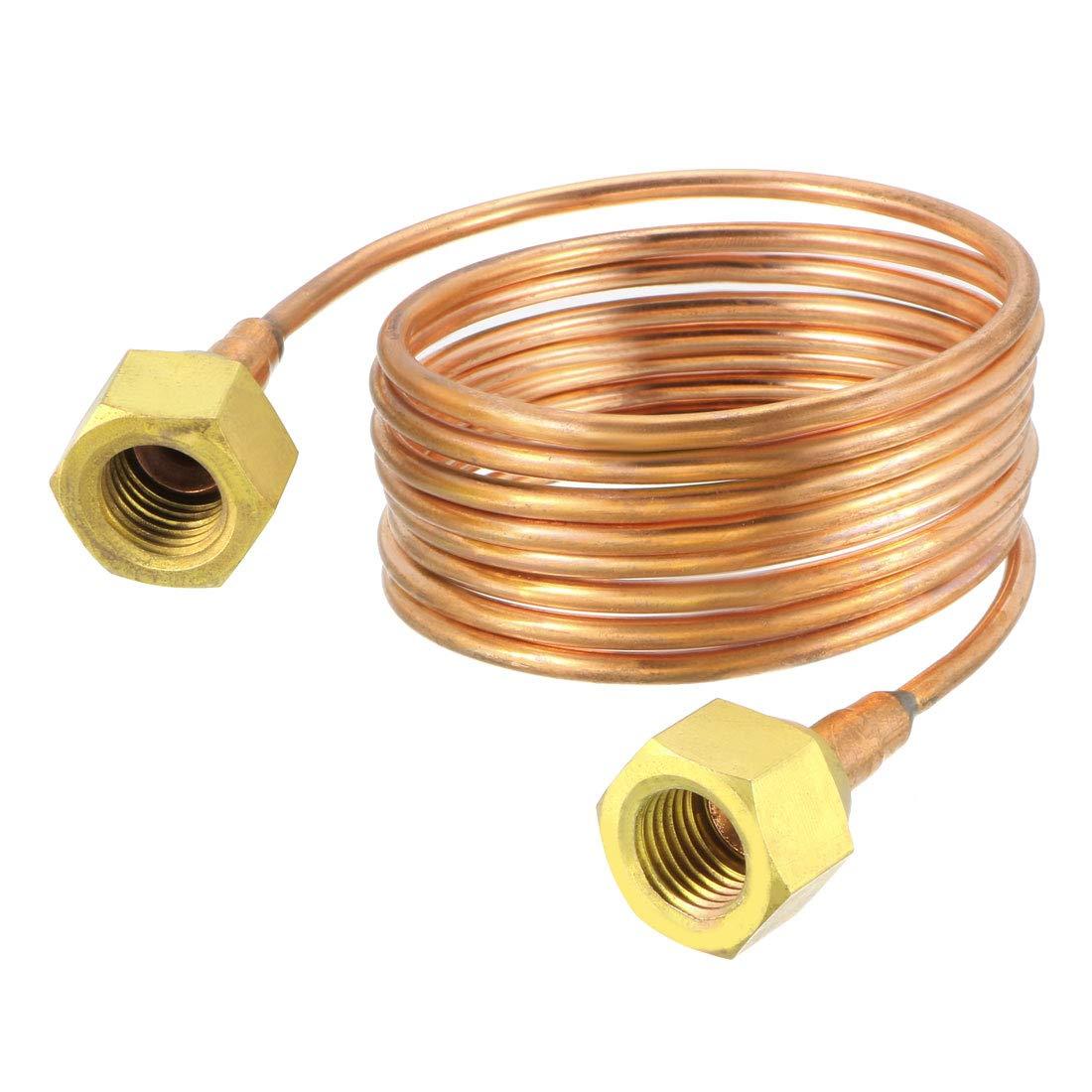 tubo de cobre suave de 1//8 pulgadas de di/ámetro exterior x 4.9 pies de longitud con tubo de lat/ón de metal Tubo de refrigeraci/ón de mapa de abastecimiento