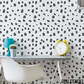 dalmatian cheetah spots stencil nursery wall painting stencil