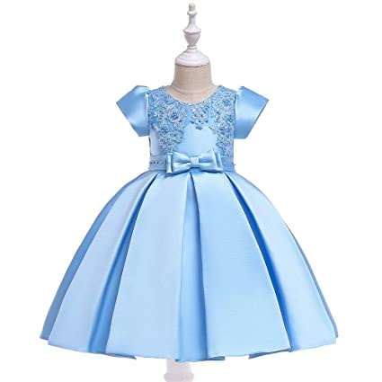 a85993918f Amazon.com: QZ Girl Dress Children Clothing Wedding Party Girls ...