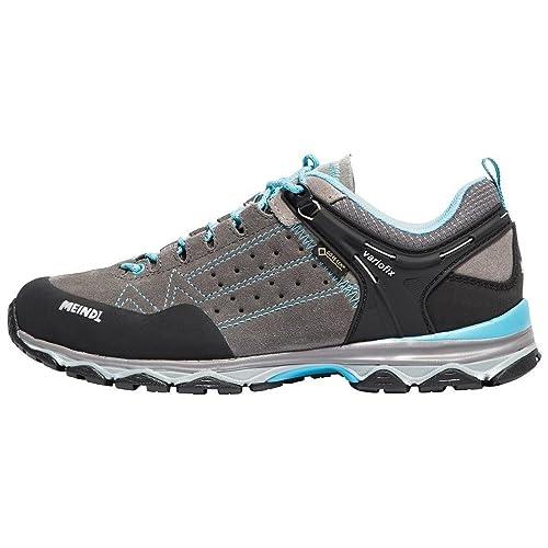 Meindl Nuevo Ontario Gore-Tex Womens Zapatos de Senderismo Zapatos Al Aire Libre Gris, Gris, 43.5: Amazon.es: Zapatos y complementos