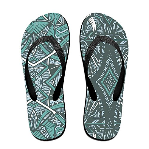Unisex Chris Patroon Zomer Band Slippers Strand Slippers Platforms Sandaal Voor Heren Dames Zwart