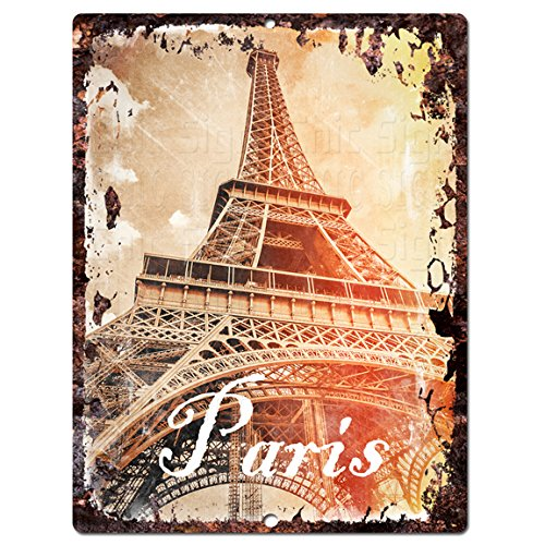 Paris Chic Sign Rustic Shabby Vintage style  Kitchen Bar