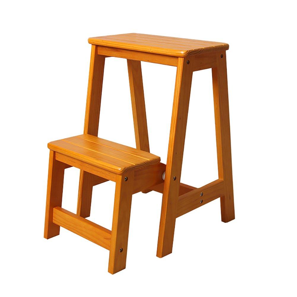 YUAN Taburete Taburete de 2 pasos de madera para adultos y niñ os Escalera de tijera plegable de interior Cocina Escaleras de madera Taburetes de pies pequeñ os Banco de zapatos portá til / Rack de flores /& Yuan Yuan SHOP