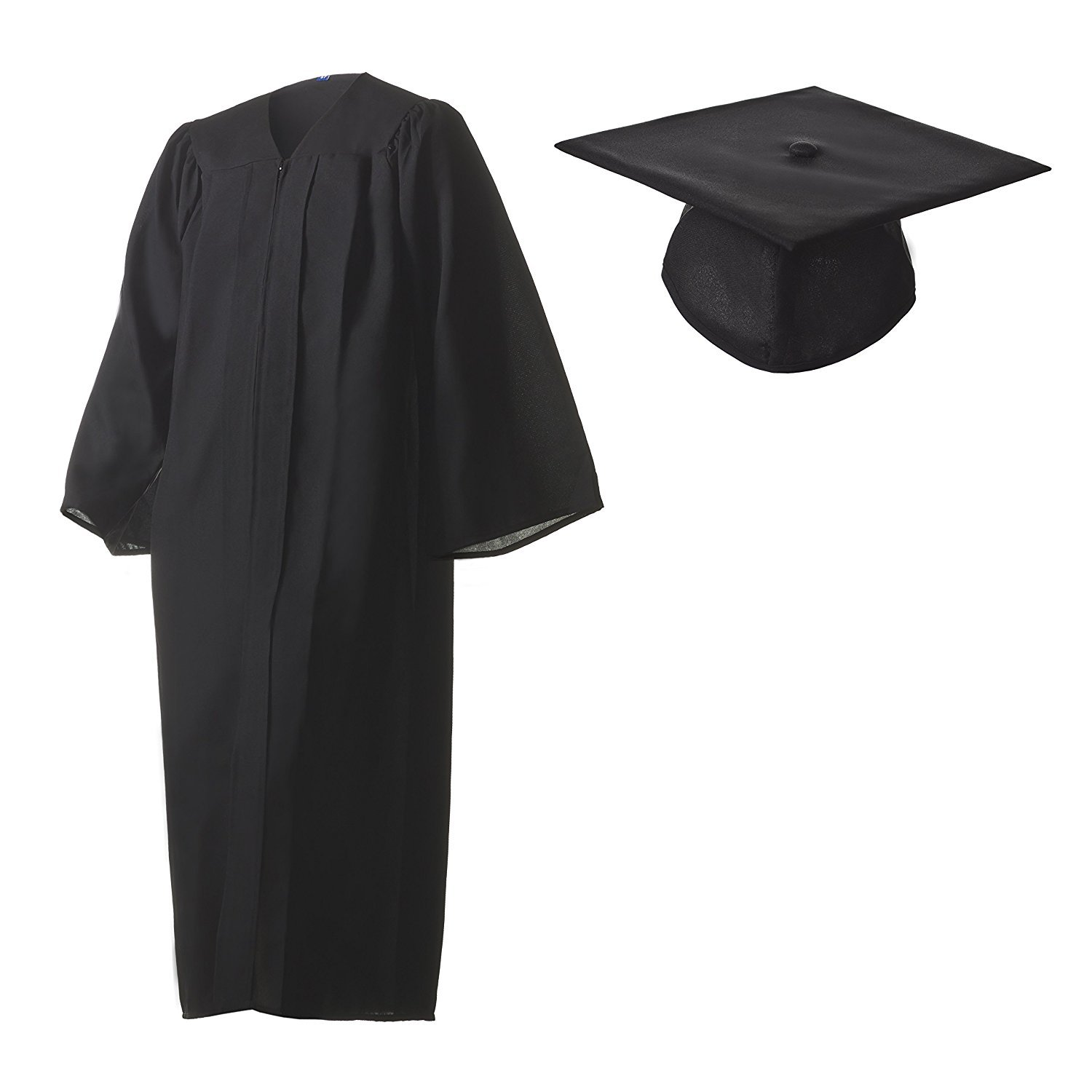 a99a6f475b3 Amazon.com  Graduation Cap and Gown Set Matte Black in Multiple Sizes   Sports   Outdoors