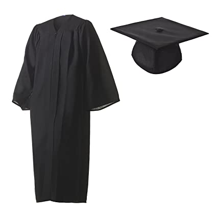 Amazoncom Graduation Cap And Gown Set Matte Black In Multiple