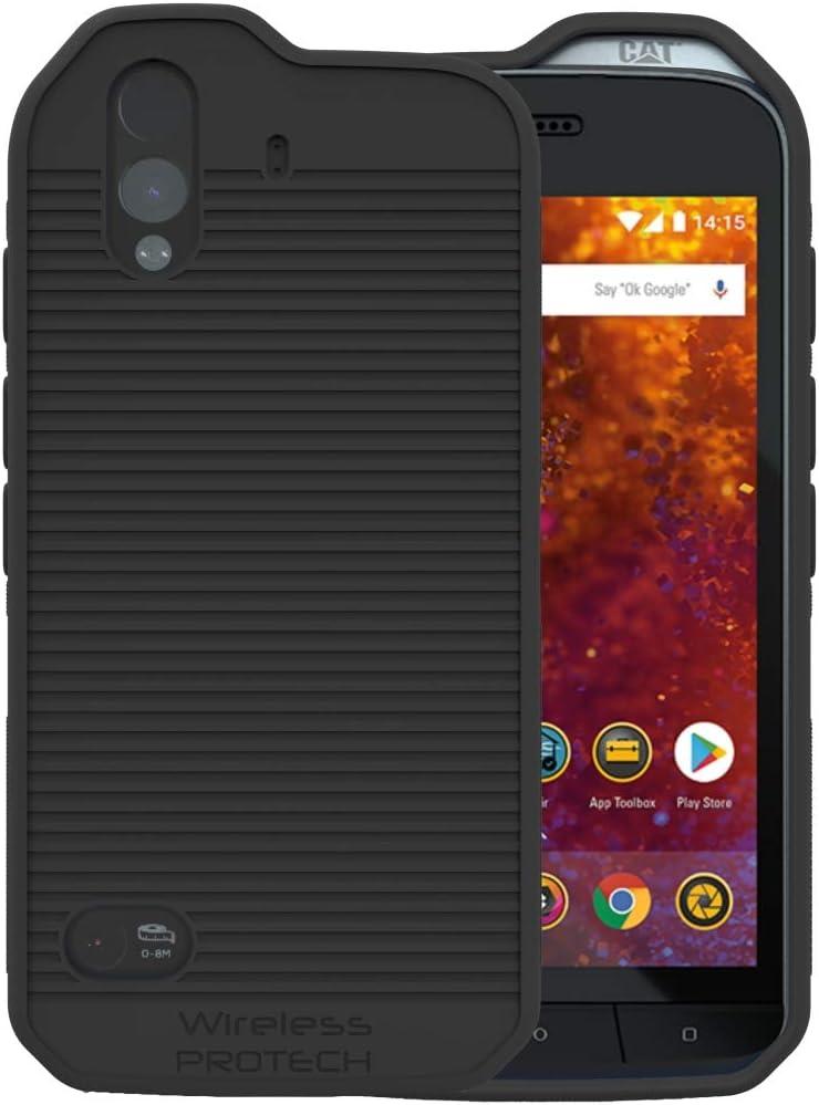 Amazon Com Cat S61 Case Wireless Protech Flex Skin Tpu Material Case For Caterpillar Cat S61 Phone Black