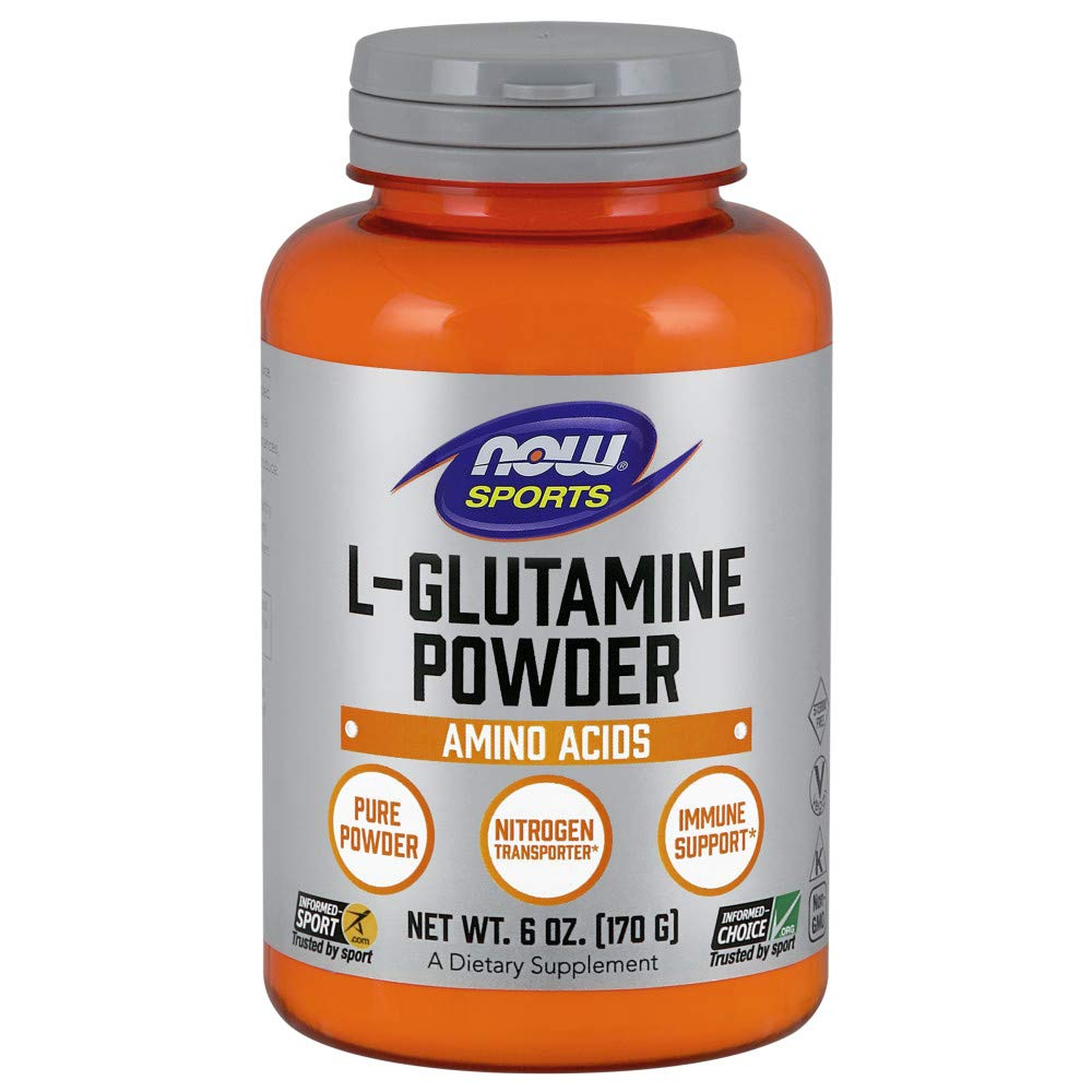 NOW Sports Nutrition, Glutamine Pure Powder, 6-Ounce by Now Sports