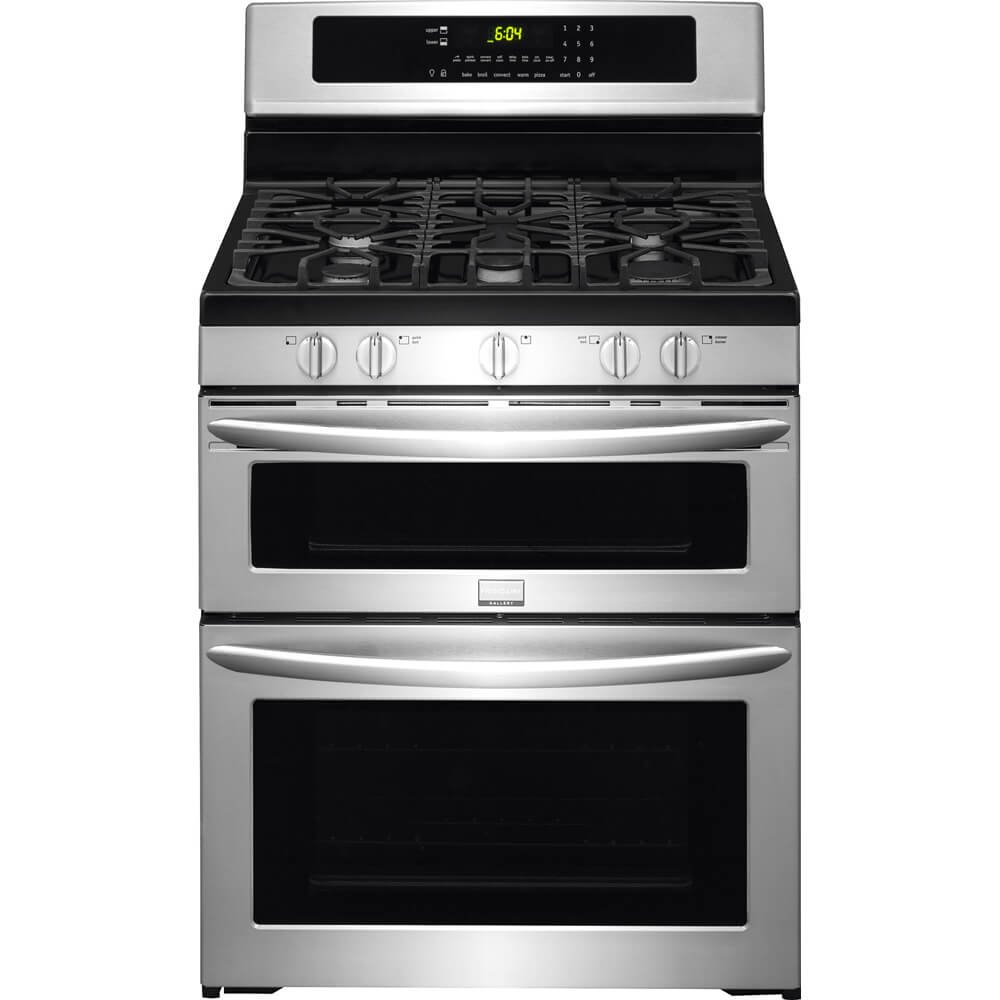 Amazon.com: DMAFRIGFGGF304DPF - Frigidaire Gallery 30 Freestanding Gas  Double Oven Range: Appliances
