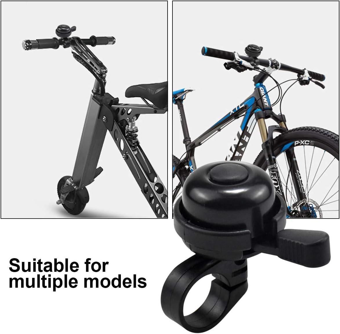 Negro Bicicleta de Bell del Manillar Accesorio Bocina de Bicicleta de Bell del Manillar Timbre de Bicicleta,Timbre de Ciclismo Cl/ásica Sonido Fuerte y Claro