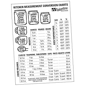 Amazon Com Magnetic Kitchen Conversion Charts By Talented Kitchen