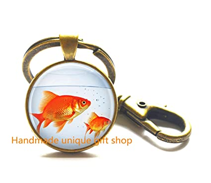 Amazon.com: Fashion Key Keychain,Fish Key Keychain, Goldfish ...