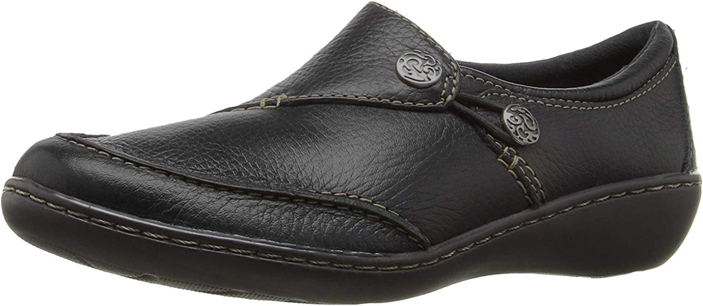 Details about  /Clarks Metallic Leather Ashland Bubble Comfort Slip On Loafer 8.5 Sale