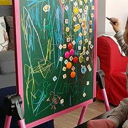 Arkmiido Pizarra Infantil Caballete para niños, Pizarra Magnetica ...