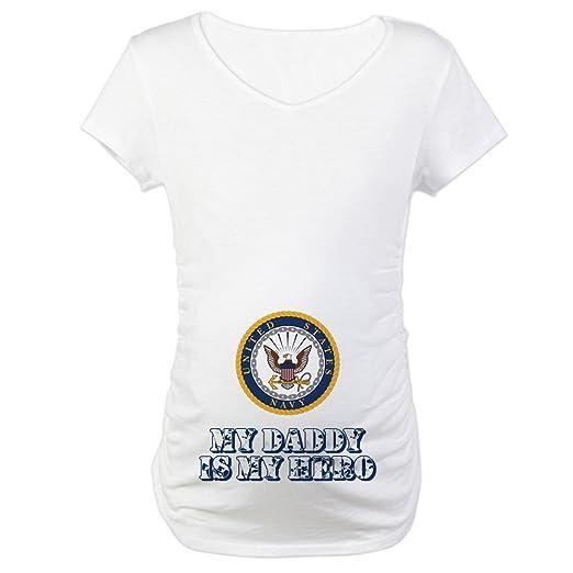 80d87f050e568d CafePress U.S. Navy My Daddy is My Hero Maternity Tee at Amazon ...