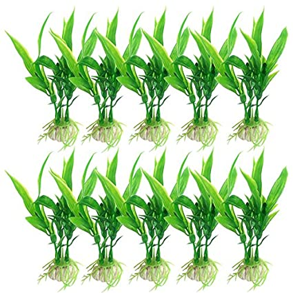 Amazon Com Gilroy 10 Pcs Lucky Bamboo Shape Plastic Water Grass