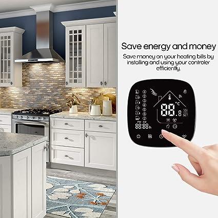 Festnight Thermostat de contr/ôleur de temp/érature daffichage num/érique intelligent de panneau acrylique pour le reptile de bo/îte pour animaux de compagnie daquarium