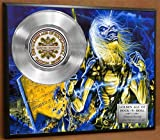 #5: Iron Maiden Limited Edition Platinum Record Poster Art Music Memorabilia Display