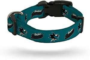 Rico Industries San Jose Sharks NHL Team Color Polyester Pet Collar (S-L)