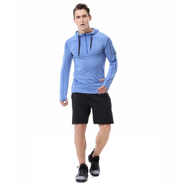 AIRAVATA Men's Hoodies Zip up Slim Fit Lightweight Long Sleeve Workout Hoody Jacket 73201
