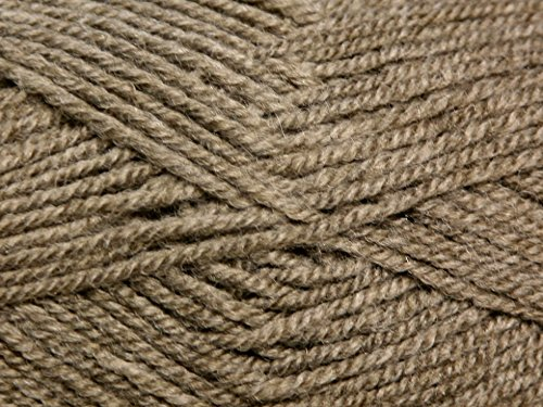 King Cole Fashion Knitting Yarn Aran 1815 Otter - per 100 gram ball