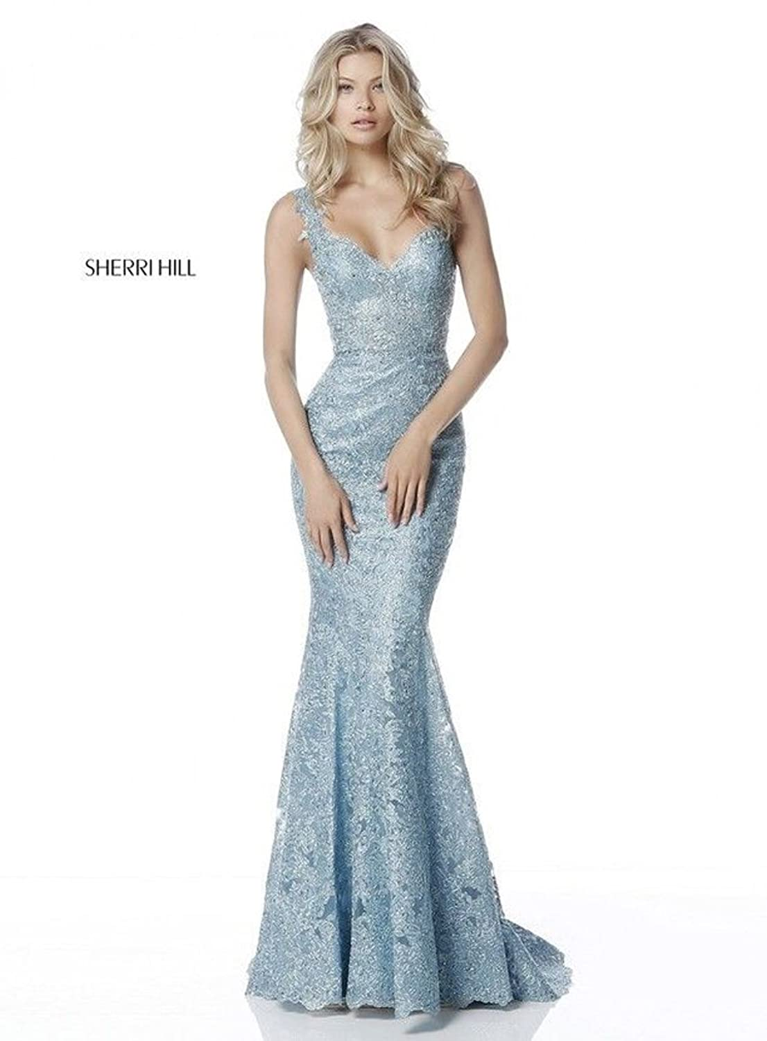 Sherri Hill Spring 2018 Evening Prom Gown 51571 Size 4 at Amazon Womens Clothing store: