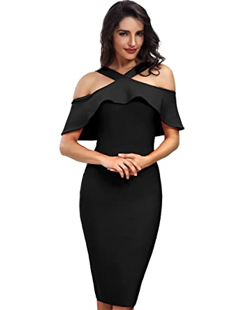 e0372ccd4e7 Adyce Bandage-Dress-Backless Elegant Bodycon Evening Wedding Evening New  Year Festivel Costume Holiday Party-Dress L  Amazon.co.uk  Clothing