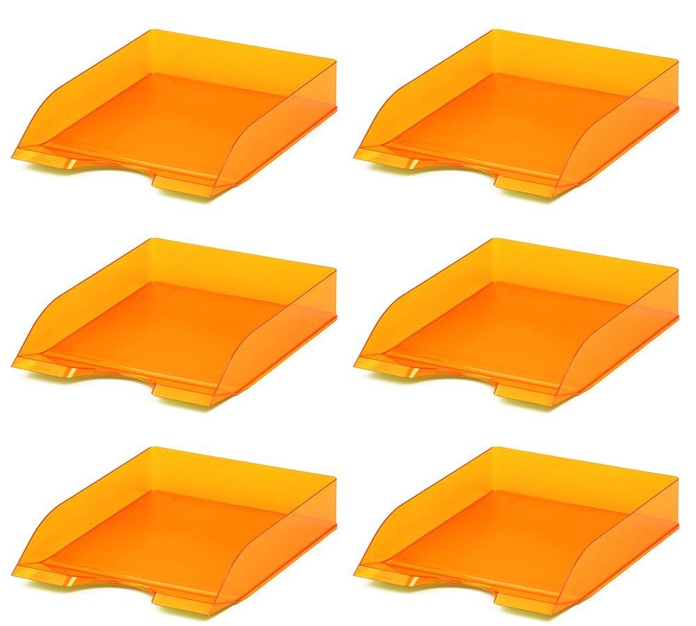 6 St/ück lila transparent Durable 1701673992 Briefablagen Basic, f/ür Format DIN A4 bis C4, stapelbar