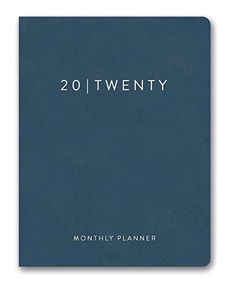 Orange Circle Studio 2020 Leatheresque Large Monthly Planner, Deeply Blue