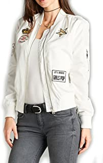 product image for Womens Pop Art Cute Patch Patched Bomber Jacket