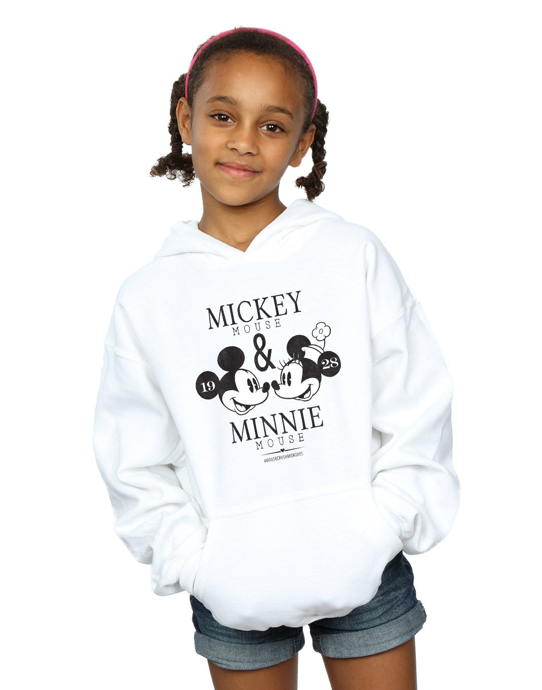 Disney Girls Mickey and Minnie Mouse Mousecrush Mondays Hoodie Absolute Cult