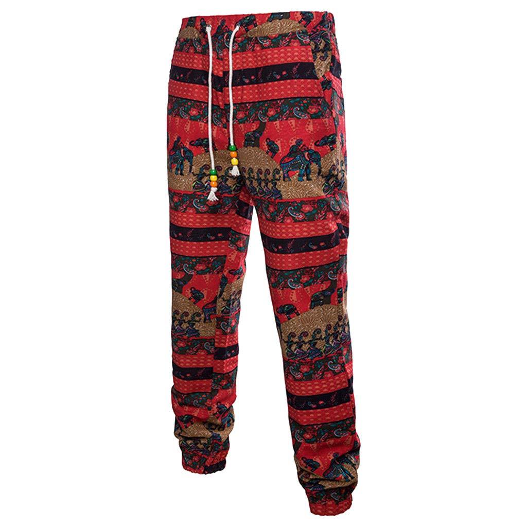 Sagton Mens Business Slim Fit Hawaiian Shirt Floral Pants