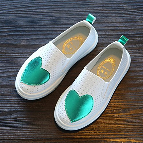 JIANGFU Kinder Lieben Hohle Schuhe Schuhe, Kleinkind-Kind-Mädchen-Baby-Mode-Liebes-Prinzessin Leather Casual Single Shoes Green