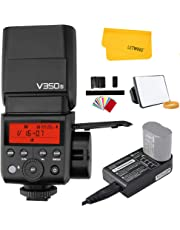 Godox V350S TTL Sony Camera Flash Speedlite 2.4G HSS 1/8000s with Rechargeable Li-ion Battery for Sony A9 A7RII A6000 A7RII A7R A58 A99 ILCE6000L A77II RX10