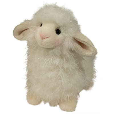 "Douglas Toys Lil' Toula Lamb Cuddle Toy Stuffed Animal, Small, 6.5"": Toys & Games"