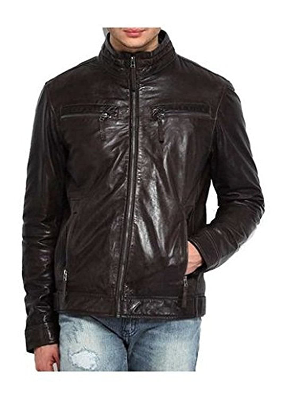 Laverapelle Men's Lambskin Real Leather Jacket Black - 1510443
