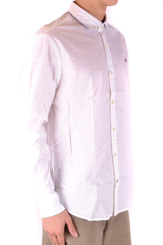 Napapijri Luxury Fashion Mens MCBI36216 White Shirt Season Outlet