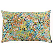 Silk Pillowcase for Hair and Skin with Hidden Zipper Chinese Pastel Water Colors Print Standard/Queen (pattern14)