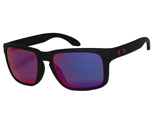 Image Unavailable. Image not available for. Colour  Oakley Holbrook  OO9102-36 Matte Black   Positive Red Iridium Sunglasses e693a6d21e