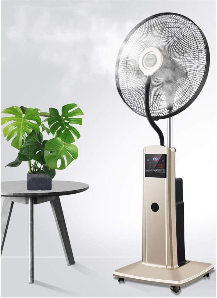 Ventilador Industrial Pedestal oscilante Ventilador de pie Ventilador de Niebla Grande Ajuste de 3 velocidades Enfriador de Aire por evaporación con Control Remoto y Temporizador para Gimnasio: Amazon.es: Hogar