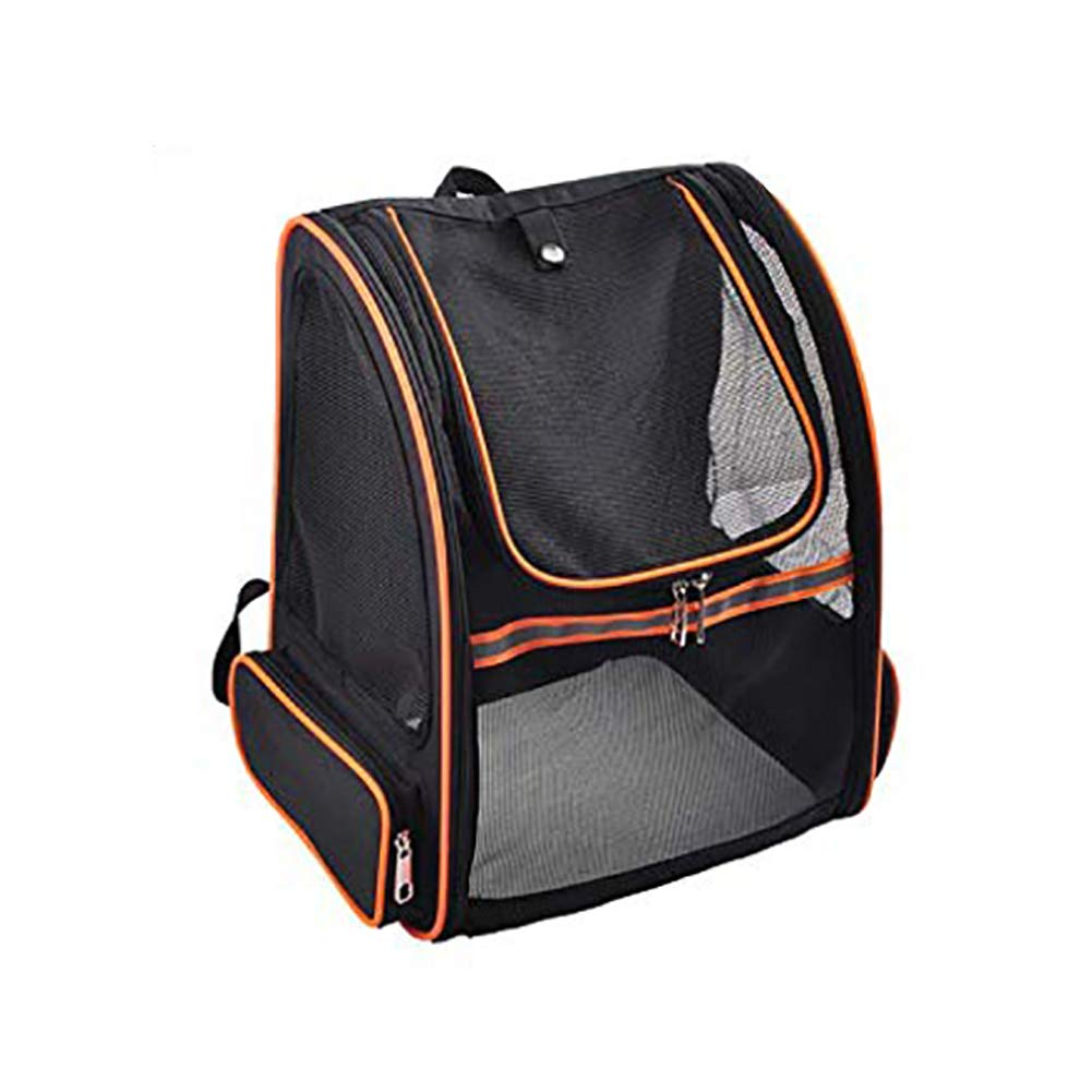 orange Cat Backpack Super Breathable Foldable Transparent Large Space Pet Out Travel Hiking Shopping Outdoor Comfortable and Breathable