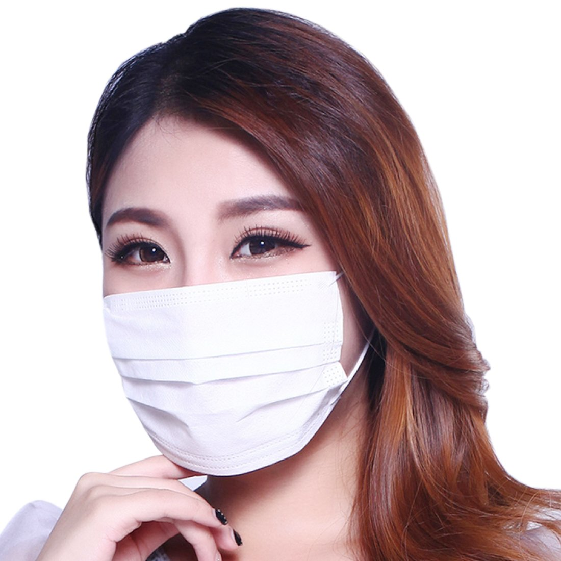 80 Pcs Disposable Surgical Mask,Marygel 3-PLY Non-woven Fabric Air permeability Hypoallergenic(White)