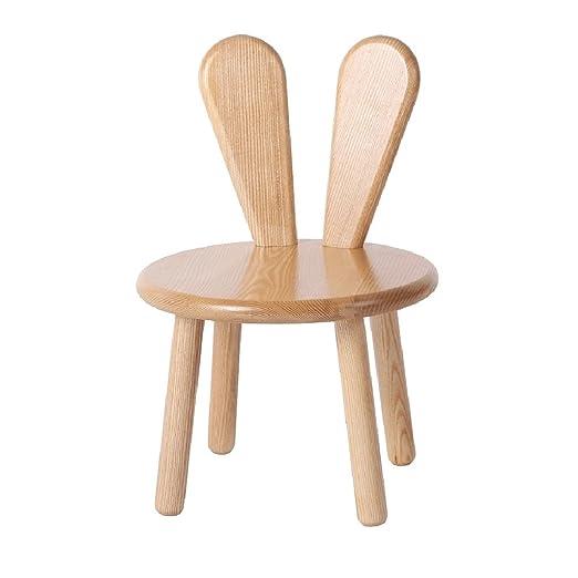 Amazon.com: HQCC DLDL Solid Wood Bench Cartoon Wooden Stool Child ...