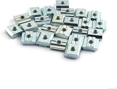 HONJIE M5 Metric Carbon Steel Tee Nuts Sliding T Nut for 3030 Aluminum Profiles-50pcs