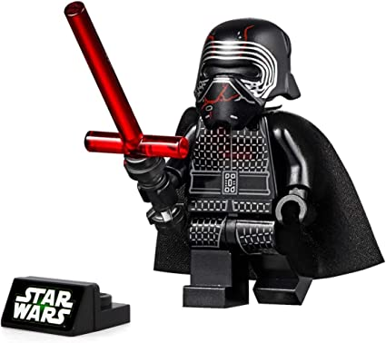 Amazon Com Lego Star Wars The Rise Of Skywalker Minifigure Supreme Leader Kylo Ren With Lightsaber And Stand 75256 Toys Games