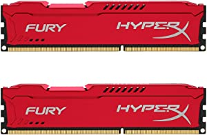 Kingston HyperX FURY 16GB Kit (2x8GB) 1866MHz DDR3 CL10 DIMM - Red (HX318C10FRK2/16)