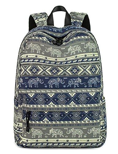 Leaper Cute Elephant Laptop Backpack Women Daypack Travel Bag Satchel Handbag